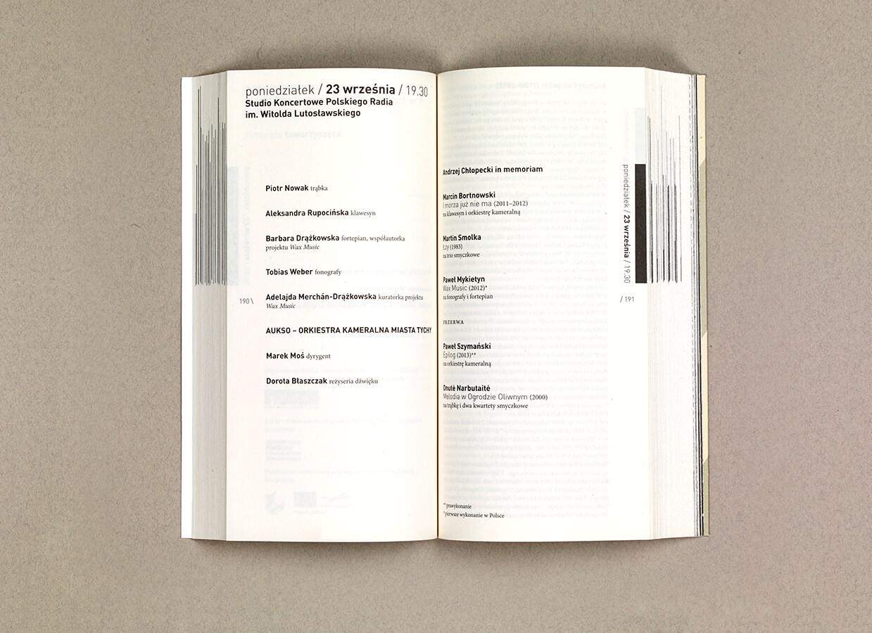Adam Dudek Warszawska Jesień 2013 książka programowa
